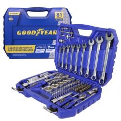 Набор инструментов Goodyear в чемодане, 81 предмет